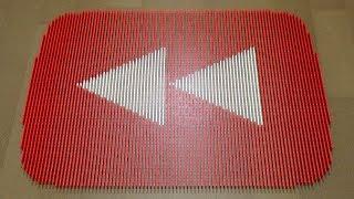 Massive YouTube Rewind Button in Dominoes!