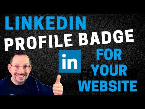 How to Add a LinkedIn Profile Badge to Your WordPress Website