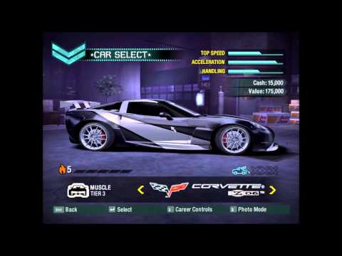 NFS Carbon Special Save game with 0% career progress