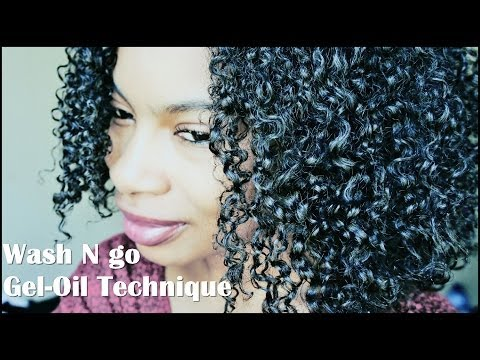 Wash N Go for Less Shrinkage| Gel/Oil Technique (4a/3c)