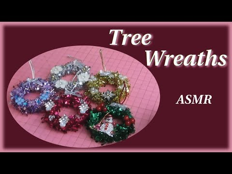 Making Mini Christmas Tree Wreaths Out Of Old Curtain Rings ASMR Crafts