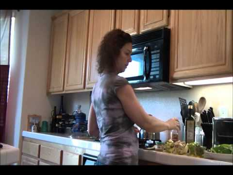 Belly Fat Cure,  part 1 stir fry veggies with shirataki noodles and tofu.wmv