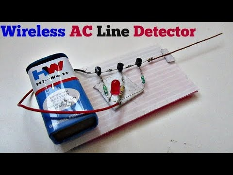 AC Line Detector - How to make a Wireless AC Line Detector Circuit Easy Way