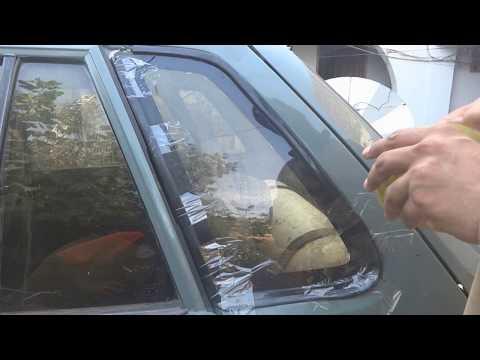 Car window gasket replacement. Car window ruber trim replacement Urdu Hindi.