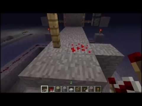 walking over redstone ore opens door! WITH TUTORIAL