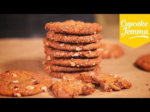 Soft Chewy Chocolate and Pecan Cookies | Cupcake Jemma