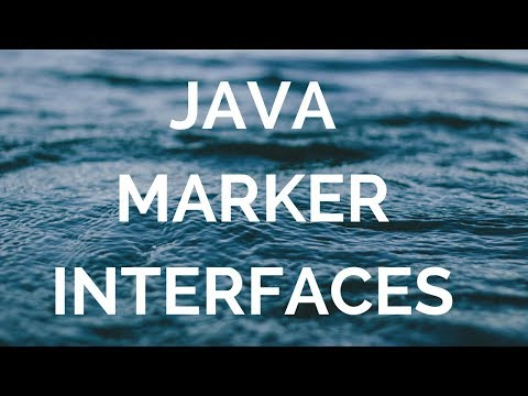 Java marker interfaces (Manohar academy)