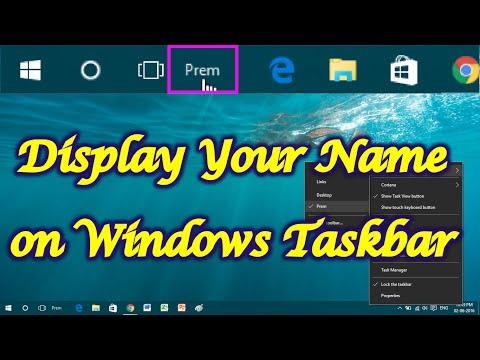 How to Display Your Name on Windows Taskbar
