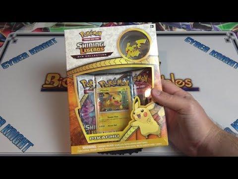 Pokemon Sun & Moon Pikachu Shining Legends Pin Box