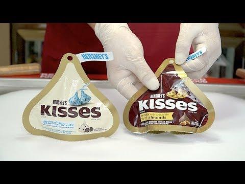 Hershey's Kisses Creamy Milk Chocolate w/ Almonds & Hershey's Kisses Cookies n Creme Ice Cream rolls