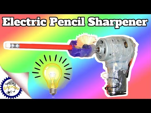 DIY Electric Pencil Sharpener | How to make a Electrical pencil sharpener | Stupid Engineer