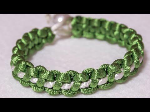 DIY Bracelets   Easy Silky Cord Crafts Tutorial   HandiWorks #65