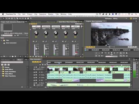Adobe Premiere Pro CS5.5 Audio Automation Modes in Action