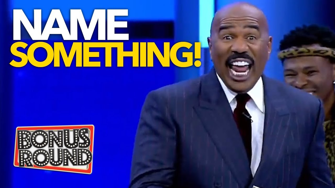 FUNNY NAME SOMETHING ROUNDS On Family Feud With Steve Harvey