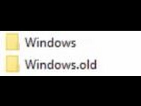How to Delete Windows.Old Folder and Files (Windows 10)