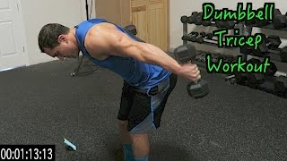 Intense 5 Minute Dumbbell Tricep Workout