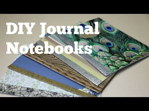 How to Make DIY Journal Notebooks Out of Scrapbook Paper - Thrift Diving