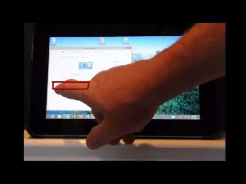 Adjust the Windows 8 tablet