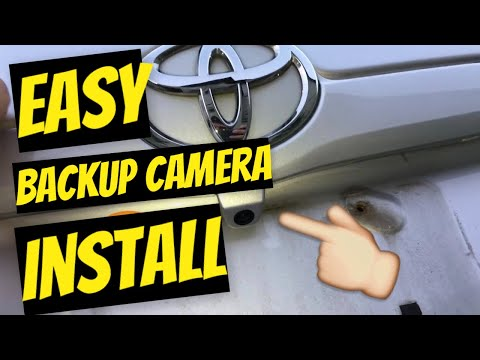 How to install backup camera on any toyota camry 2009 or any car