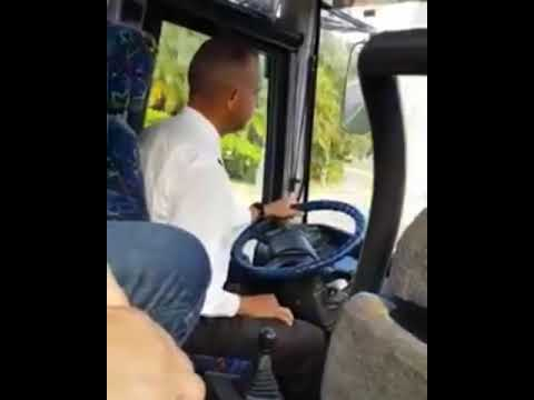 Funny bus driver