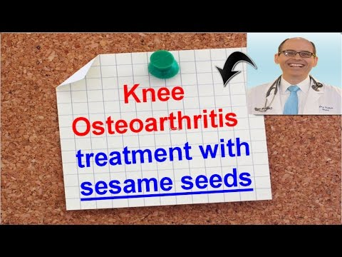 Knee Osteoarthritis treatment with sesame seeds ?  Dr.Michael Greger