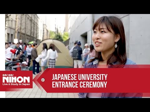 Crazy entrance ceremony in a famous Japanese university!