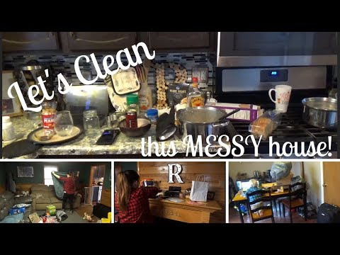 CLEAN WITH ME   An actual MESSY house!