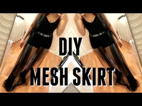EASY DIY MESH MAXI SKIRT | NO SEWING MACHINE
