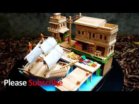 DIY Ship from Popsicle stick | ทำเรือใบง่าย ๆ ด้วยไม้ไอติม