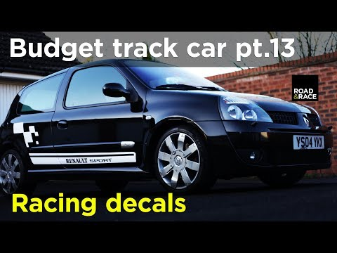 Fitting racing stripes & decals - Budget Track Car Build Project pt.13 | Road & Race S04E13