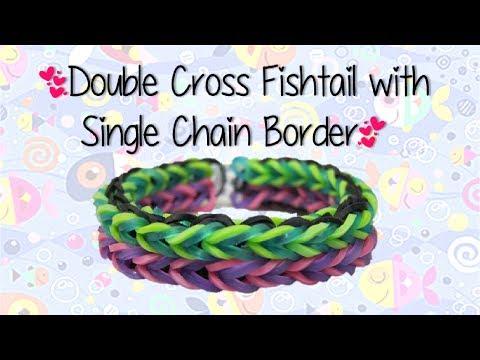 NEW Duo-Fish Rainbow Loom Bracelet Tutorial | How To