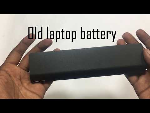 how to make power bank from old laptop battery