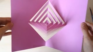 """Super Easy Way To Make A """"Magic Spinning Kirigami"""" Card Tutorial"""