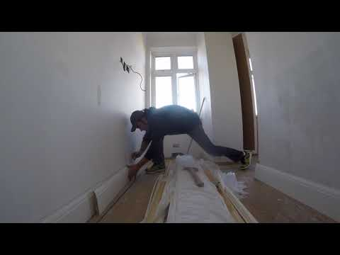 Skirting boards installation