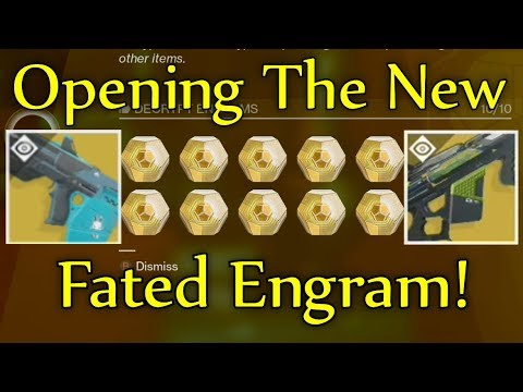 Destiny 2 - Trying The New ''Fated Engram'' HUNTING FOR NEW EXOTICS! (Opening 10 Exotic Engrams)