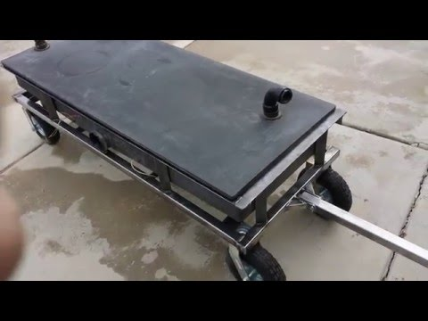 RV waste water tank/tote/trailer build.  Start to Finish.