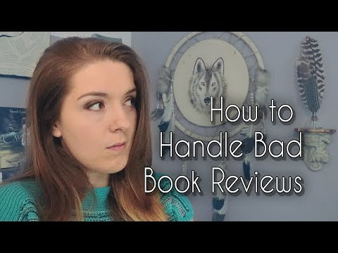 How to Handle Bad Book Reviews