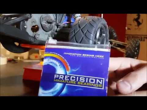 How To Install Boca Bearings in Traxxas Bandit VXL Pt. 1 (Wheels and Steering)