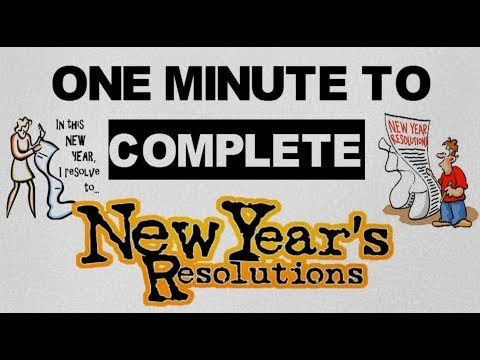 ONE MINUTE SUCCESS HABIT FOR 2018 (HINDI) - NEW YEAR RESOLUTIONS !!