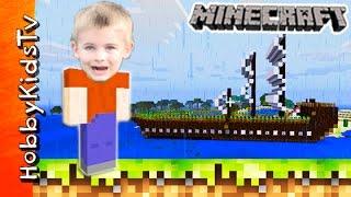 HobbyFrog Creates a Minecraft Boat Car in Creative World