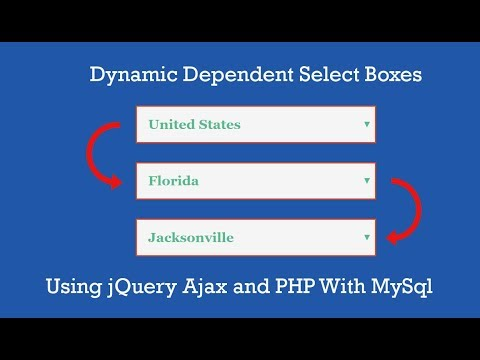 Dynamic Dependent Select Box using jQuery Ajax & PHP || php ide