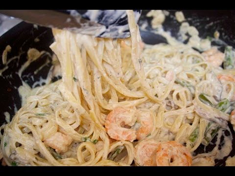 Garlic Shrimp Fettuccine - Cooked by Julie - Episode 130