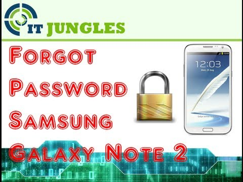 Forgot Password Samsung Galaxy Note 2 (Hard Reset)