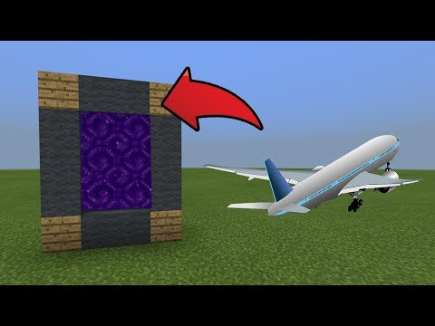 How To Make a Portal to the Airplane Dimension in MCPE (Minecraft PE)