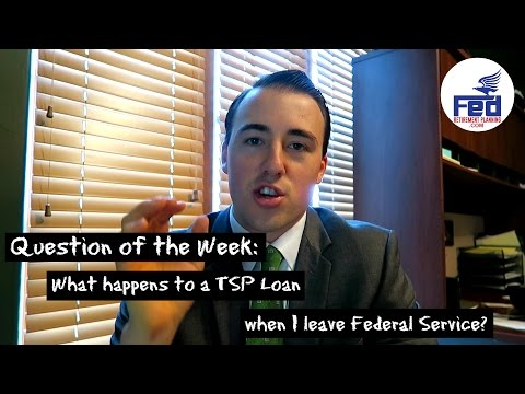 What Happens to a TSP Loan when I Leave Federal Service? | #FedRetirementWeekly Ep. 2
