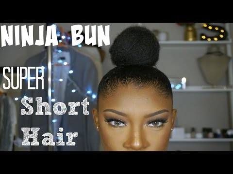 Ninja Bun on Super Short Hair | SheemaJtv