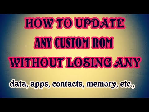 How To Update Any Custom ROM Without Losing Data