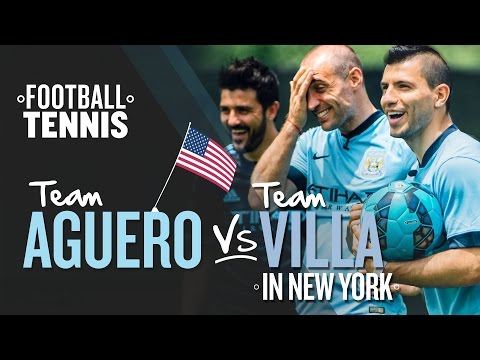 FOOTBALL TENNIS | Team Aguero v Team Villa | New York Challenge 1