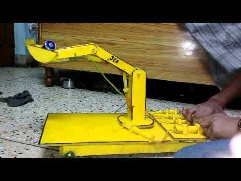 Physics model hydraulic crane