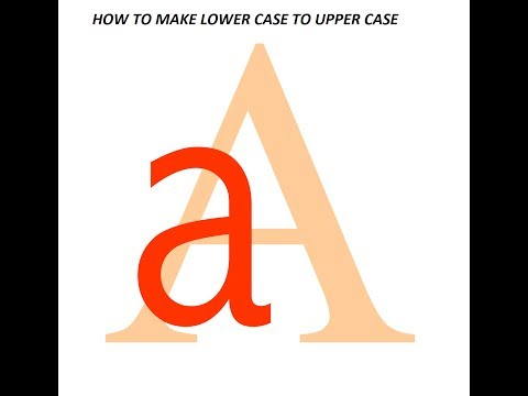 How to Change Small letter to Capital letter in MS Excel Upper CaseLower Case